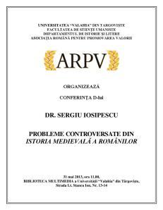 conferinta Sergiu Iosipescu